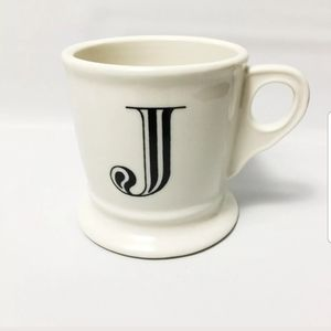 Anthropologie Monogram J Coffee Mug